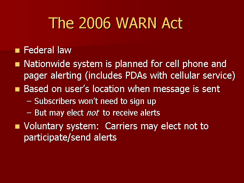 Federal warn act