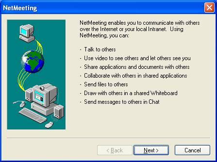 Graphic of NetMeeting's